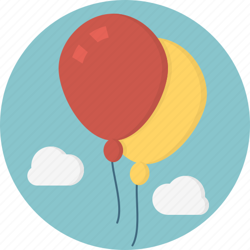 baloons, cloud icon