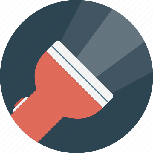flashlight, torch icon