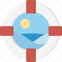 lifebelt, sea icon