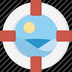 lifebelt, sea icon
