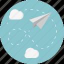 cloud, paper, plane