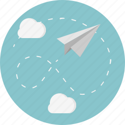 cloud, paper, plane icon