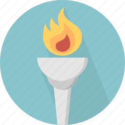 fire, flme, light, torch icon