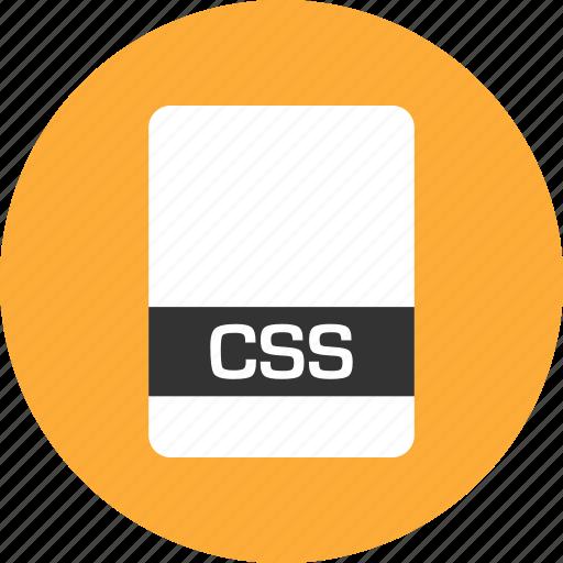 css, file, name icon