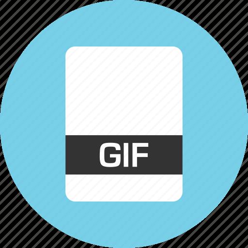 file, gif, name icon