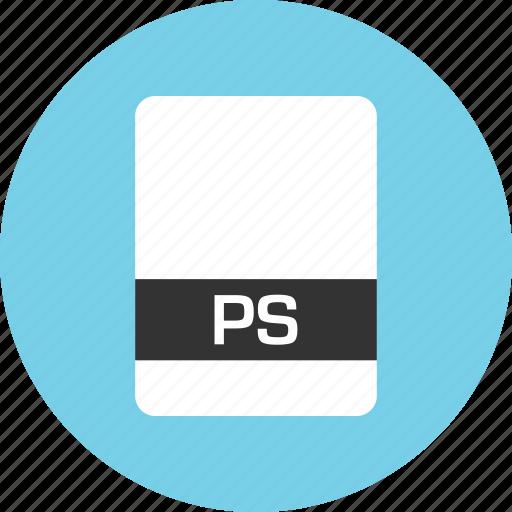 file, name, ps icon