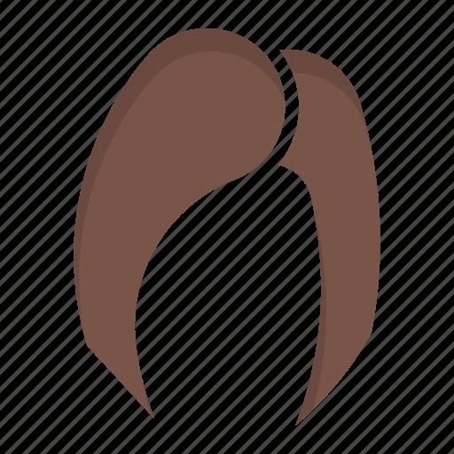 female, fiber, hair, head, protein icon