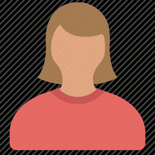 female, girl, person, user icon