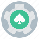 gamble, bet, casino, chip, fortune, lucky, spade icon