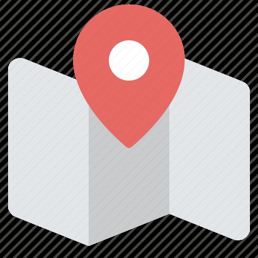 Map, pin, destination, explore, location icon - Download on Iconfinder