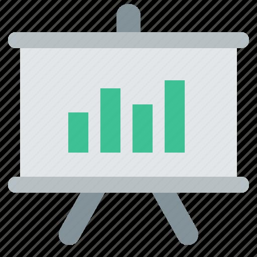 presentation, reports, seminar, stats icon