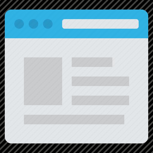 Browser, web, internet, page, url, webpage, website icon - Download on Iconfinder