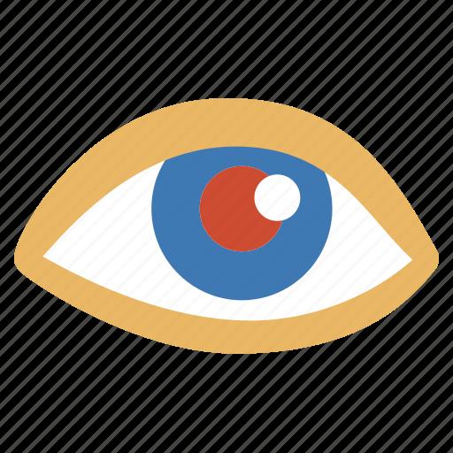 eyes, imaging, red, tool icon