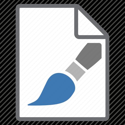 brush, create, file, imaging, new icon
