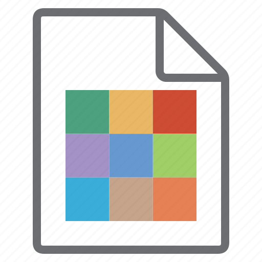 color, create, file, imaging, new, swatch icon