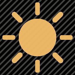 brightness, image, imaging, set, sun icon