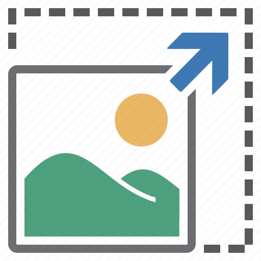 decrease, imaging, increase, picture, scale icon