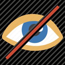 eye, hide, imaging, invisible, no icon