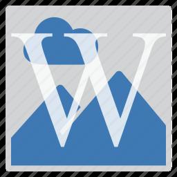 imaging, watermark icon