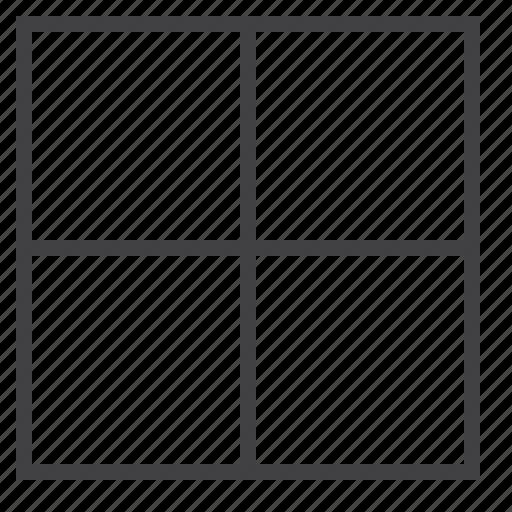 all, border, cell icon