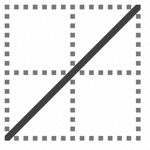 border, cell, diagonal icon