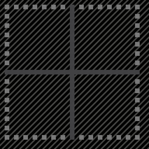 border, cell, inside icon