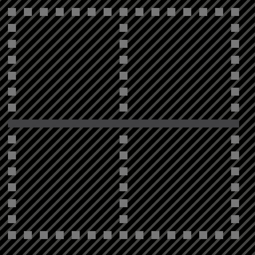 border, cell, horizontal, inside icon