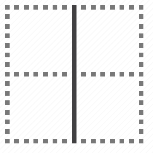 border, cell, inside, vertical icon