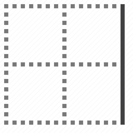 border, cell, right icon