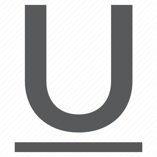 character, mode, style, underline icon