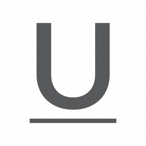 character, mode, small, style, underline icon