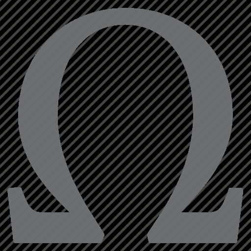 greek, letter, omega, symbols icon