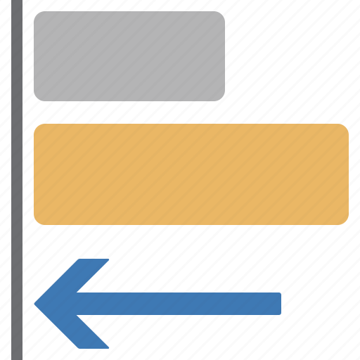 align, arrow, document, file, left, processing, word icon