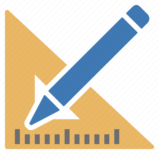 design, drawing, pen, pencil, processing, ruler square, tool icon