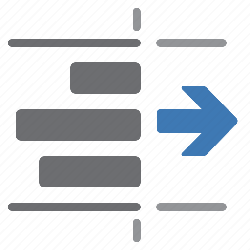 arrow, document, paragraph, processing, right, text, unindent icon