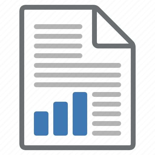 content, document, file, graph, illustration, processing, text icon