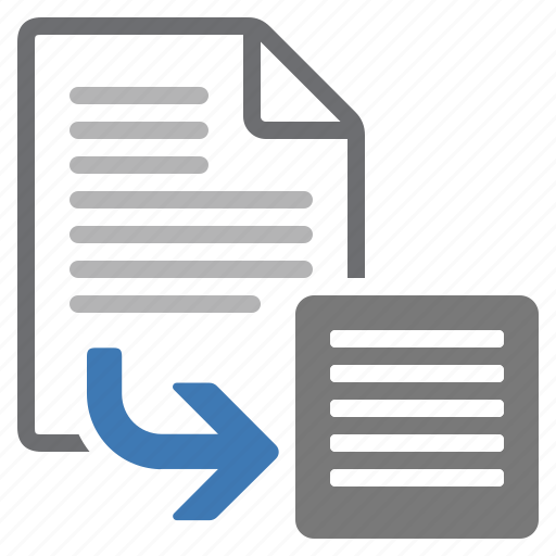 document, export, extract, file, processing, text icon