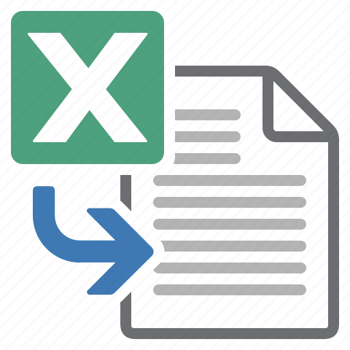 document, excel, file, import, processing, spreadsheet, word icon