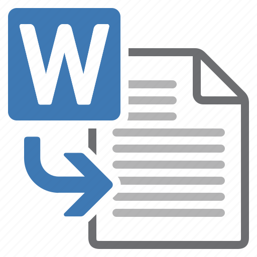 document, file, import, insert, processing, word icon