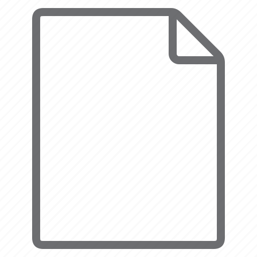 blank, create, empty, new, page, portrait, sheet icon