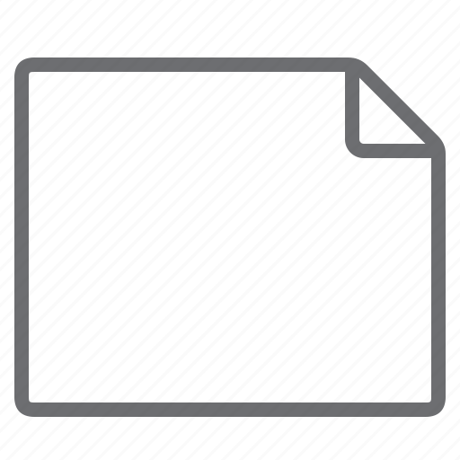 blank, create, document, empty, landscape, new, processing icon