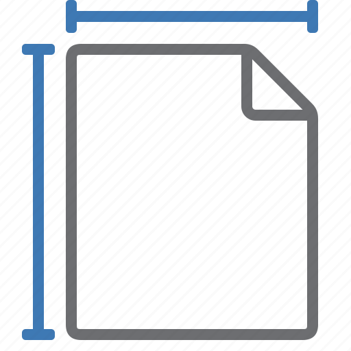 document, length, page, processing, set, size, width icon