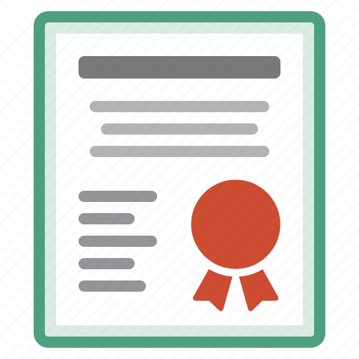 authentification, badge, certificate, certification, document, file icon