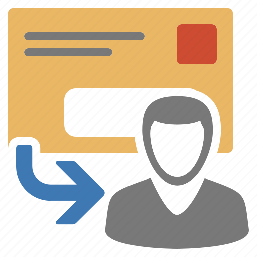 client, letter, mail, mailing, postal, recipient, user icon