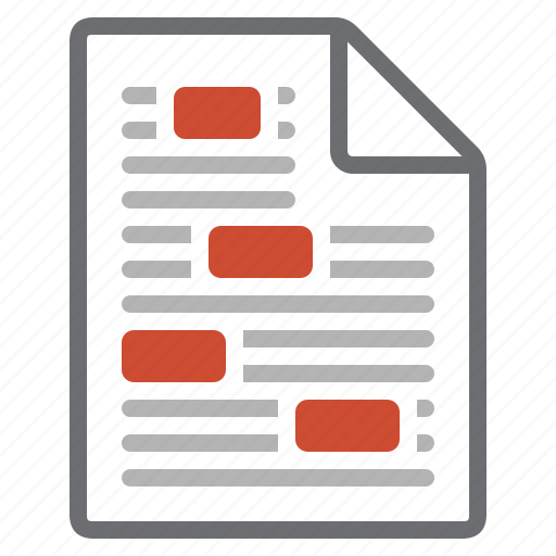 aspect, correction, document, file, review, verification, view icon