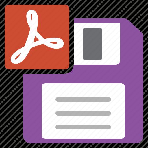 acrobat, adobe, as, document, file, pdf, save icon