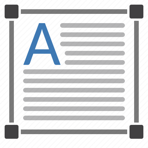 adjust, article, box, document, size, text icon