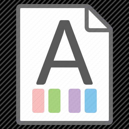 choose, custom, document, style, themes icon