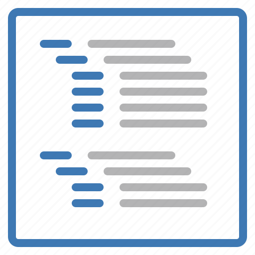 organization, outline, page, structure, text, view icon