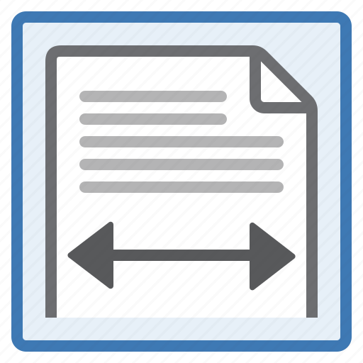 adjust, layout, page, set, view, width icon